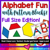Alphabet Fun with Pattern Blocks-- FULL SIZED EDITION!