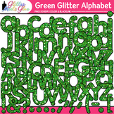 Green Glitter Alphabet Clip Art {Glitter Meets Glue}