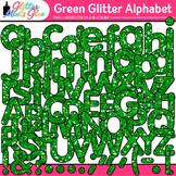 Green Glitter Alphabet Clip Art {Great for Classroom Decor