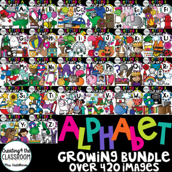 Alphabet Clipart - GROWING BUNDLE!!