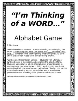 Alphabet Game - Beginning Phonics/Sound Practice