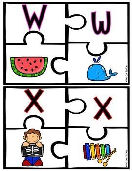 Alphabet Game {Alphabet Puzzles}