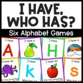 """Alphabet Game: Alphabet """"I Have, Who Has?"""" Activity for Ki"""