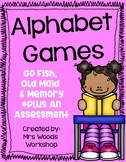 Literacy Center Alphabet Game (Old Maid, Go Fish and Memory)