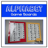 Alphabet Game Boards