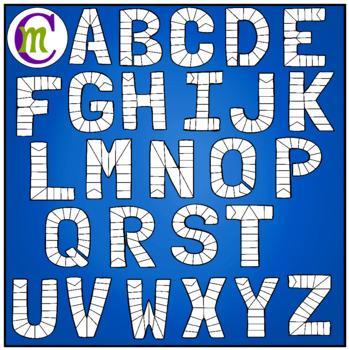 Alphabet Game Boards Clip Art Bold Colors