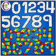 Number Game Boards Clip Art Bold Colors