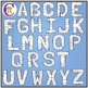 Alphabet Game Boards Clip Art Pastels