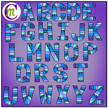 Alphabet Game Boards Clip Art Winter Edition