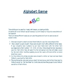 Alphabet Game Engagement Activity