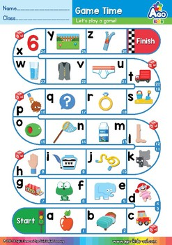 Alphabet Game (English Race Time) | Easy ABCs Activities | Snakes Ladders
