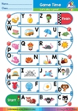 Alphabet Game (English Race Time) | Easy ABCs Activities |
