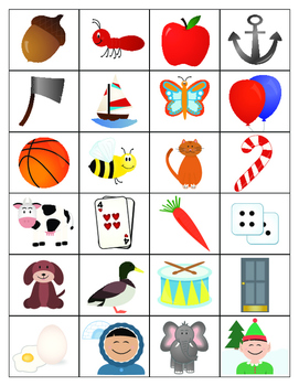 Alphabet Game File Folders