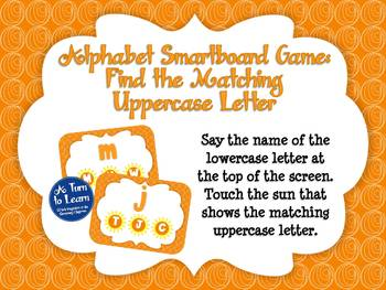 Alphabet Game: Find the Matching Uppercase Letter (Smartboard/Promethean Board)