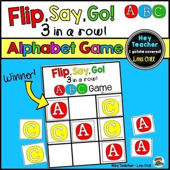 Alphabet Game: Letter ID and Letter Sounds {Flip, Say, Go!}