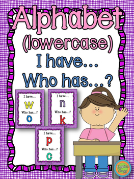 "Alphabet - Game ""I have... who has...?"" - lowercase"