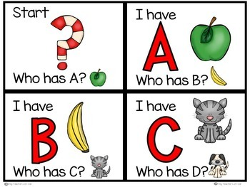 Alphabet Recognition Game: Letter Identification {I have... Who Has?}