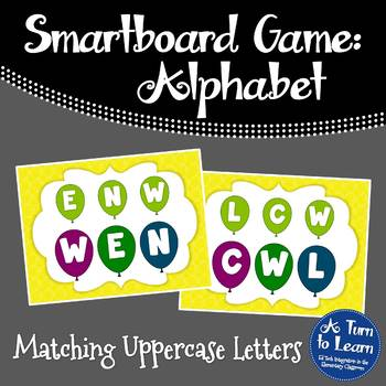 Alphabet Game: Matching Uppercase Letters (Smartboard/Promethean Board)
