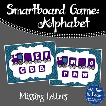 Alphabet Game: Missing Letters (Smartboard/Promethean Board)
