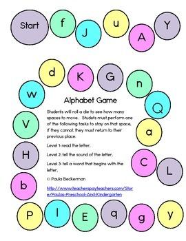 Alphabet Game - Pastel Colors