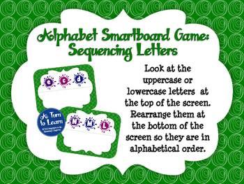 Alphabet Game: Sequencing Letters (Smartboard/Promethean Board)