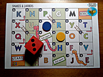 Alphabet Game: Snakes and Ladders Freebie