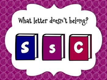 Alphabet Game: What Letter Doesn't Belong (Smartboard/Promethean Board)