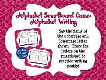 Alphabet Game: Writing Letters (Smartboard/Promethean Board)