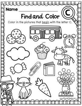 Alphabet Games: Find and Color Printables