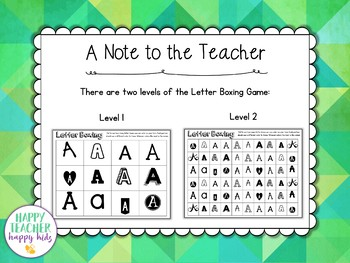 Alphabet Games: Letter Boxing