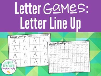 Alphabet Games: Letter Line Up