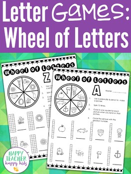Alphabet Games: Wheel of Letters