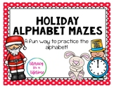 Holiday Alphabet Mazes