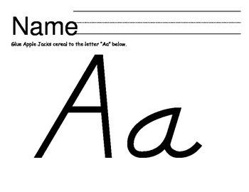Alphabet Gluing Sheets