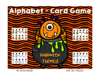 Alphabet Playing Cards {Halloween Themed}