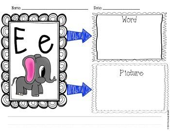 Alphabet Graphic Organizers
