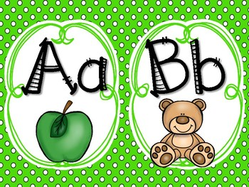 Alphabet - Green