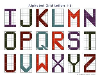 DIY Alphabet Grid Bookmarks FREE