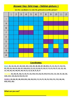 Alphabet Grid Map worksheets