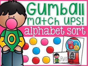 Alphabet Gumball Machines