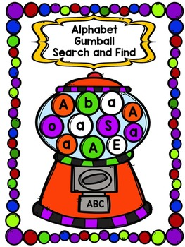 Alphabet Gumball Search and Find