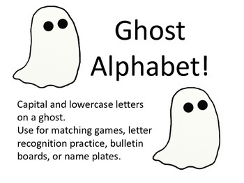 Alphabet Ghosts!