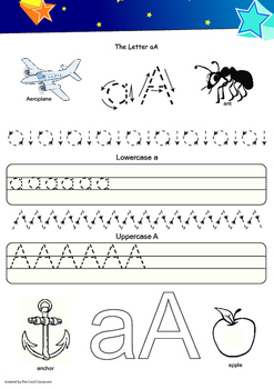 Alphabet Hand Writing Book