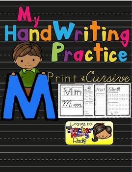 Alphabet HandWriting Practice - Letters Aa to Mm (with cursive)