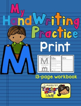 Alphabet HandWriting Practice - Letters Aa to Mm (Print/Manuscript)