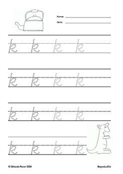 Alphabet Handwriting { freebie }