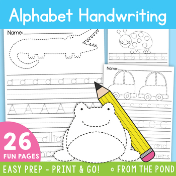 Alphabet Handwriting Worksheets {Letters + Tracing}