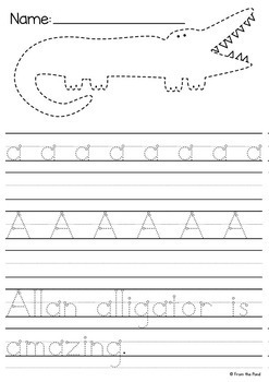 Alphabet Handwriting Worksheets {Letters + Tracing} by From the Pond