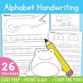 Alphabet Handwriting Tracing Worksheets