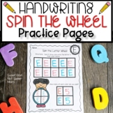 Letter Handwriting Activity- Spin the Wheel- Capital Letters